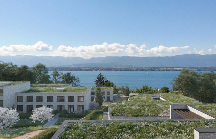 Villas et vue sur le lac